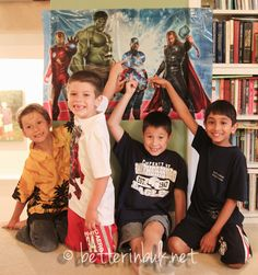 Avengers birthday party...besides the party, I want to read this blog...kids are better in bulk, just waiting on the rest of mine :)