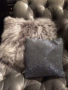 Mongolian Lamb Throw Pillow And Beaded Great Combo