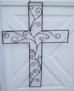 Welded Steel Cross by weldrwomn on Etsy, $35.00