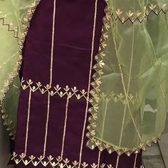 Instagram Embroidery Suits Punjabi, Hand Embroidery Dress, Embroidery Suits Design, Stylish Dress Designs, Dress Neck Designs, Bridal Blouse Designs, Punjabi Suits Designer Boutique, Designer Punjabi Suits, Indian Designer Wear