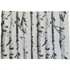 Birch Forest Placemat - Mist