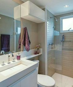 Most Popular Small Bathroom Remodel Ideas on a Budget in 2018 This beautiful look was created with cool colors, and a change of layout. Bathroom Inspiration, Bathroom Interior, Small Bathroom, Bathrooms Remodel, Bathroom Decor, Bathroom Design, Small Remodel, Bedroom Design, Bathroom Layout