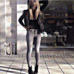 Maria Karlberg Leather Pants, Grey, Instagram, Fashion, Leather Jogger Pants, Gray, Moda, Fashion Styles, Lederhosen