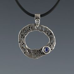 Image result for organic silver pendant with sapphire