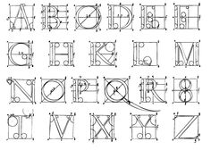 Font Mixing FontsDrawing LettersBlack LetterCalligraphy LettersLearn CalligraphyTechnical DrawingType