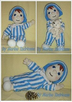 Andy Pandy doll toy crochet knitted pattern PDF on Etsy, Crochet Dolls Free Patterns, Amigurumi Patterns, Amigurumi Doll, Crochet Toys, Knitting Patterns, Crochet Animals, Crochet Fairy, Marionette, How To Make Toys