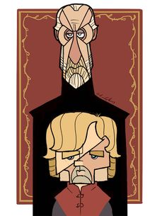 Tywin & Tyrion Lannister - by William Appledorn