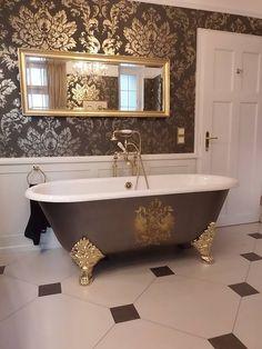 die besten 25 gusseisen badewanne ideen auf pinterest gusseiserne badewanne haupt bad und. Black Bedroom Furniture Sets. Home Design Ideas