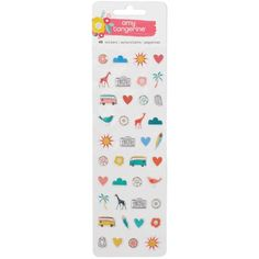 Amy Tangerine Oh Happy Life - Mini Icons Puffy Stickers