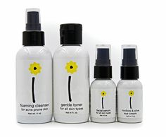 Labels for Brightside's line of skincare products