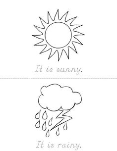 Write the weather word on the line. Weather Book from