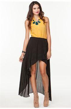 #A`Gaci                   #Skirt                    #A'GACI #Wrinkled #Bamboo #Skirt #BOTTOMS           A'GACI Wrinkled Bamboo Hi Lo Skirt - BOTTOMS                                  http://www.seapai.com/product.aspx?PID=1859484