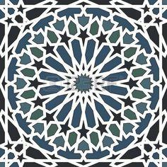 Modelo inconsútil del Arabesque en azul y negro photo