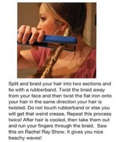 Easy DIY for beachy waves. #diy #hair