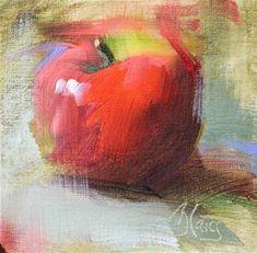 "Daily Paintworks - ""McIntosh"" - Original Fine Art for Sale - © Pamela Blaies Apple Painting, Fruit Painting, Painting & Drawing, Still Life Oil Painting, Still Life Art, Fruit Art, Small Paintings, Pastel Art, Fine Art Gallery"