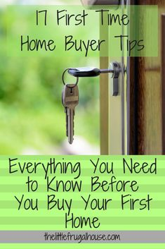Everything you need to know before you buy your first home is included in these 17 first time home buyer tips! We've learned a lot in 4 years! Buying First Home, Buying A Condo, Home Buying Tips, Home Buying Process, First Time Home Buyers, Home Improvement Projects, Home Projects, Home Renovation, Home Remodeling