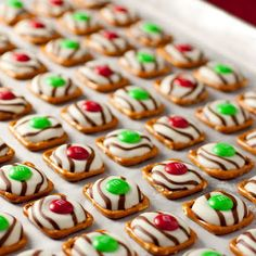 These are so good and easy! All you need to do is melt down a Hershey kiss on a pretzel and out an MnM in it after it's melted.