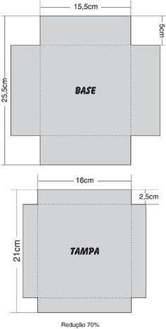 Resultado de imagem para molde de caja cuadrada con tapa para imprimir