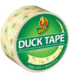 Get creative and use the ShurTech 1.88inches x 10 Yds. Patterned Duck Tape-Pineapple Delight to add flair to your art and craft projects. This pack includes 10 yards of 1.88-inch wide duct tape exhibi