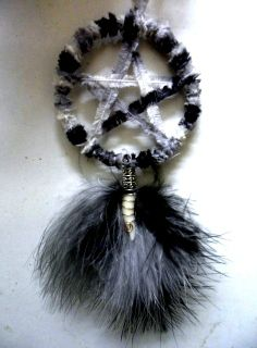 Wolf amulet handmade  by positivelypagan.com