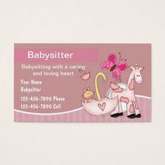 babysitting business cards free