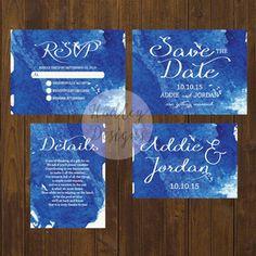 Watercolor Wedding Invitations, Water Color Wedding Invitations, Floral Wedding…