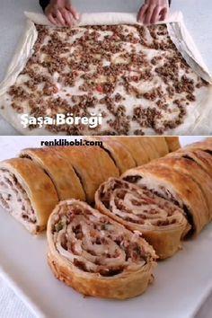 to # # börektarif of pasta Turkish Flat Bread, Turkish Recipes, Ethnic Recipes, Turkish Kitchen, Apple Pie, Good Food, Food And Drink, Pizza, Cooking Recipes