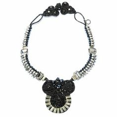 """RUSH 20"""" Crystal, Glass, & Simulated Diamond Collar Statement Necklace"""