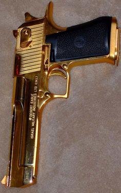 Gold Desert Eagle.