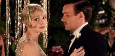 Catherine Martin on Creating the Costumes for The Great Gatsby: (L-r) Carey Mulligan Daisy Buchanan and Joel Edgerton as Tom Buchanan. loving this bracelet The Great Gatsby Movie, Great Gatsby Party, 1920s Party, Look Gatsby, Gatsby Style, 1920s Style, Carey Mulligan, Scott Fitzgerald, 1920s Fashion Gatsby