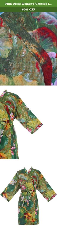 Find Dress Women's Chinese Ink Lotus Kimono Short Cotton Robe DI10114-Small-Green. Please kindly refer to Find Dress Robe Size Chart images! We will make the dresses according to our own size chart Feel free to contact me if you have any questions or requests like you need your dress in hurry before buying! The processing time for one order is 7-10 days. And it will take about 15 days getting to US and Canada. The shipping method we choose is DHL, UPS, or China Post Air Mail.