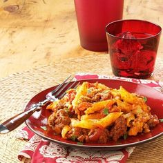 Baked Mostaccioli Recipe from Taste of Home -- shared by Darlene Carlson of Jamestown, North Dakota Greek Dishes, Main Dishes, Recipe For Pastitsio, Lasagna Recipe Taste, Baked Mostaccioli, Baked Ziti, Stuffed Shells Recipe, Saint Louis, Beef Recipes