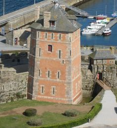 """An iconic building """"The Vauban Tower"""" in Camaret, listed as World Heritage by UNESCO / Finistère, Brittany"""