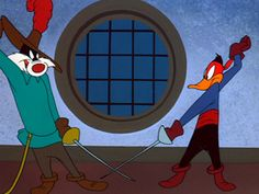 Daffy Duck and Sylvester - The Scarlet Pumpernickle - ТВ Ретро Scarlet, Daffy Duck, Retro Cartoons, Looney Tunes, Pixar, Childhood, Animation, Characters, Tv