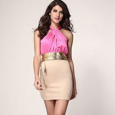 Wow! Fashion Exquisite Strapless Halter Slim Sleeveless Dress only $28.99 from ByGoods.com! I like it so much!!