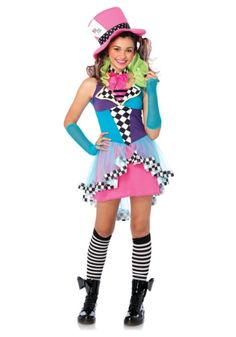 If you're a little more inclined to mayhem on Halloween rather than whimsy, then this Tween Mayhem Hatter Costume will serve you well.