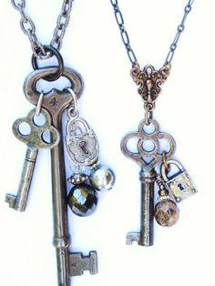 Key Jewelry Key Jewelry … in 2020 Wire Jewelry, Jewelry Crafts, Jewelry Art, Beaded Jewelry, Jewelery, Vintage Jewelry, Handmade Jewelry, Jewelry Design, Unique Jewelry