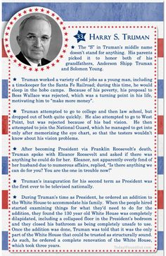 100+ Facts About US Presidents 33- Harry S Truman