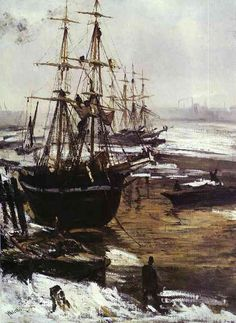 The Thames in Ice JAMES WHISTLER Style: American Impressionism, Impressionism Lived: July 14, 1834 - July 17, 1903 (19th - 20th century) Nationality: USA
