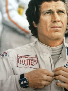 Steve McQueen wearing his Tag Heuer Monaco during Le Mans