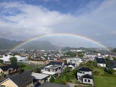 虹 台風15号の影響でころころ変わる天候の中、たまたま遭遇。 2012年8月26日午前8時20分