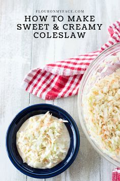 Sweet Coleslaw Recipe, Homemade Coleslaw, Creamy Coleslaw, Barbecue Side Dishes, Dinner Side Dishes, Dinner Sides, How To Make Coleslaw, Dessert Salads, Cabbage Recipes