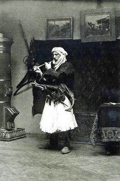 North Albanian in Fustanella