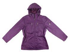 Hooded Plum Rain Jacket