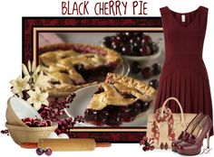 """Black Cherry Pie"" by jenalind ❤ liked on Polyvore"