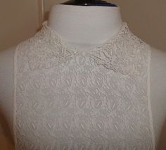 Fabulous vintage 1940s white cotton & guipure lace half blouse detachable vestee modesty panel dress insert dickey - NOS. $55.00, via Etsy.