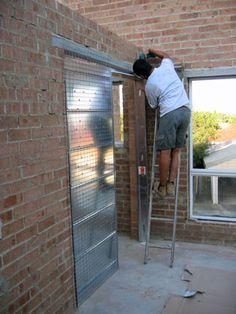 Cavity Sliding Door Systems for Single Rendered Brick Walls Brown Front Doors, Modern Front Door, Front Door Entrance, Front Door Colors, Cavity Sliding Doors, Sliding Door Systems, Diy Barn Door, Diy Door, Closet Door Alternative