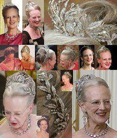 Diamond Floral Aigrette Tiara - Queen Margrethe of Denmark.