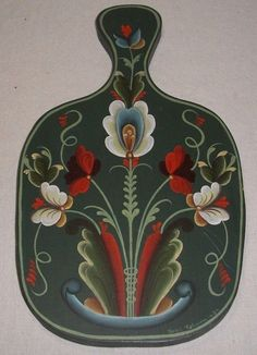 NORWEGIAN ROSEMALING WOOD WALL PLAQUE SIGNED & DATED | eBay
