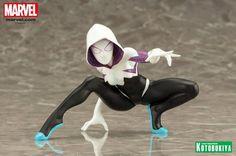 La statuette de Spider-Gwen, la super-héroïne Marvel Comics arrive dans la collection de figurines collector ARTFX+, date de sortie et précommande #spidergwen #spiderman #kotobukiya